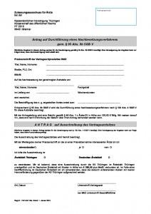 Antrag Durchführung Nachbesetzungsverfahren